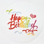 Stickers Happy Birthday (1 vel van 10 stuks)