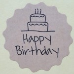 Stickers Happy Birthday (1 vel van 12 stuks)